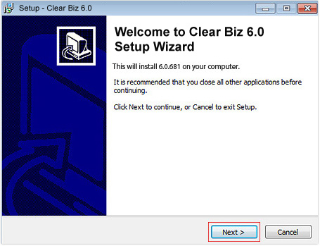 Clear Biz Setup Wizard