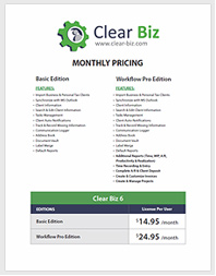 Clear Biz Pricing Picture