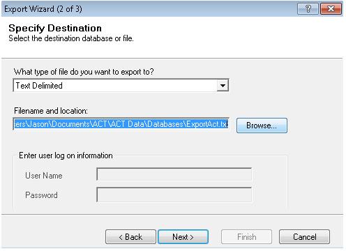 Export Act Screenshot (Step 3)