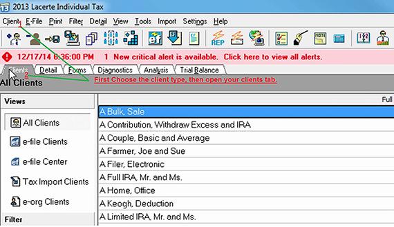Export Lacerte Screenshot (Step 1)
