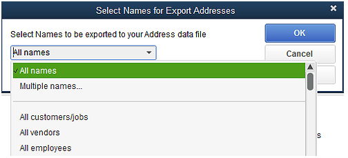 Export QuickBooks Desktop Screenshot (Step 2)