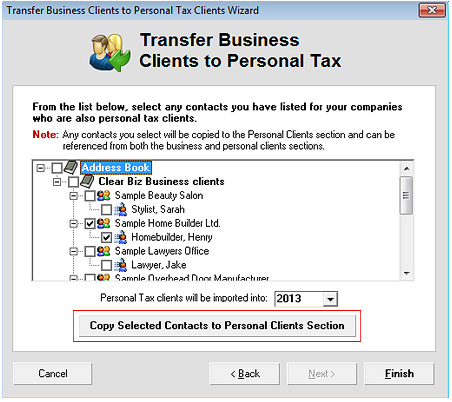 Copy Business Clients Screenshot (Step 3)