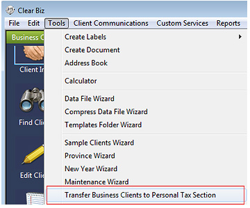 Move Business Clients Screenshot (Step 1)