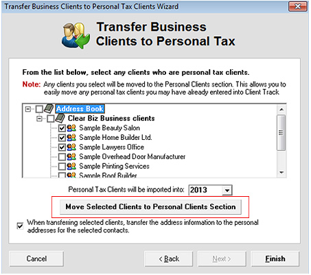 Move Business Clients Screenshot (Step 3)